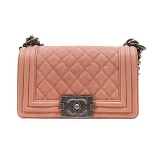 Small Boy Rose Pink Leather Cross Body Bag